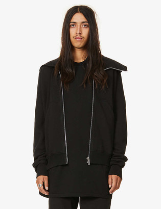 Rick Owens Mountain oversized cotton-jersey hoody