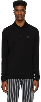 Dolce & Gabbana Black Long Sleeve Polo
