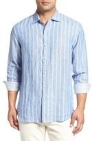 Tommy Bahama Men's Big & Tall Brisbane Beach Breezer Stripe Linen Sport Shirt