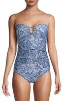Calvin Klein One-Piece Printed Swimsuit