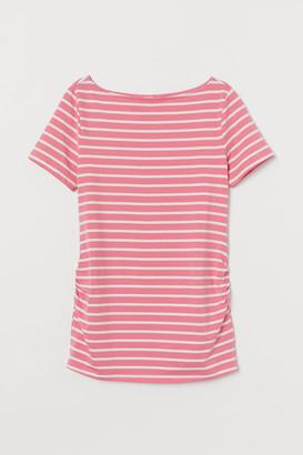 H&M MAMA Boat-neck T-shirt