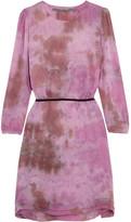 Raquel Allegra Tie-dyed Silk-georgette Dress - Fuchsia