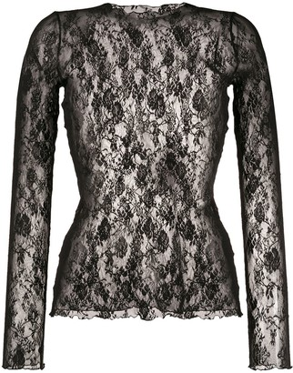 Wolford Katharina stretch-lace pullover