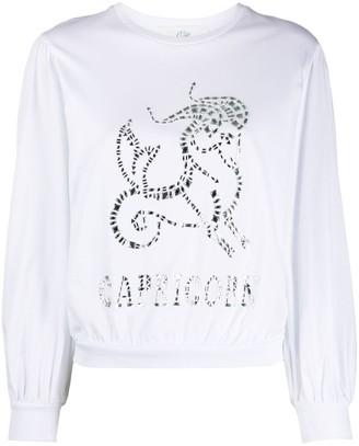 Alberta Ferretti Capricorn crystal-embellished sweatshirt