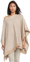 Polo Ralph Lauren Suede-Trim Boatneck Poncho