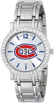 Game Time Women's NHL-AS-MON All Star Stone Bezel Triple Silver Analog Display Japanese Quartz Silver Watch