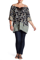 Angie Crochet Cold Shoulder Tunic (Plus Size)