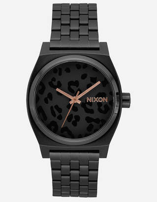 Nixon Time Teller All Black & Cheetah Watch