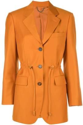 Salvatore Ferragamo drawstring waist tailored blazer