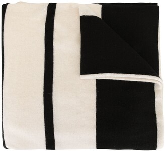 James Perse Striped Knit Scarf