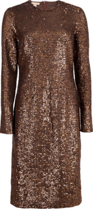 Michael Kors Paillette Crewneck Dress