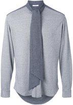 Aganovich tie neck shirt