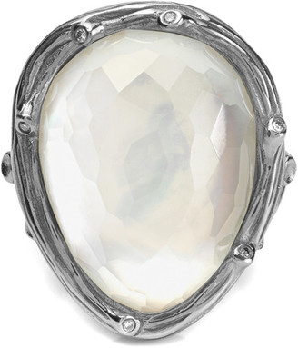 Michael Aram Enchanted Forest Silver 0.03 Ct. Tw. Diamond & Mother-Of-Pearl Doublet Crystal Ring