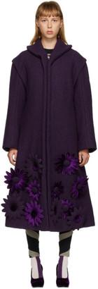 Paula Canovas Del Vas Purple Celine Flower Coat