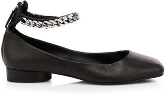 Rebecca Minkoff Raakel Ankle-Chain Leather Flats