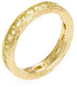Elizabeth Showers 18K Yellow Gold & Peridot Birch Channel Stack Ring