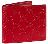 Gucci Logo Embossed Leather Wallet