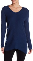 GRIFFEN CASHMERE Cashmere Long Sleeve Ribbed V-Neck Sweater