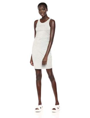 Bebe Women's Sleeveless Logo Dress with Side Shirring