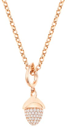 Tamara Comolli Mikado Flamenco 18K Rose Gold & Diamond Pave Acorn Pendant