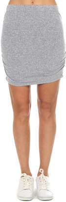 Monrow Shirred Mini Skirt