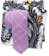 Original Penguin Charlotte Check Tie & Pocket Square Set