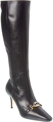 Gucci Zumi Leather Knee Boot