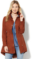 New York & Co. Long Anorak Jacket - Redwood