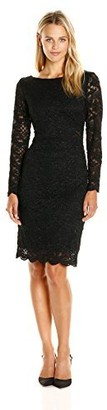 Onyx Nite Women's Short Floral Lace with Illusion Waist