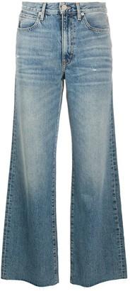SLVRLAKE Grace frayed wide-leg jeans