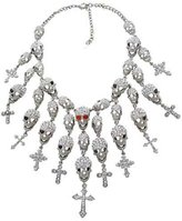 Butler & Wilson Crystal Skulls & Crosses Cascade Necklace