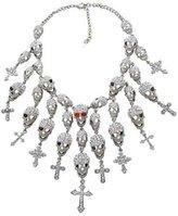 Butler & Wilson Crystal Skulls & Crosses Cascade Necklace