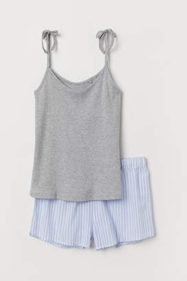 H&M Pyjama strappy top and shorts