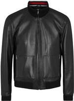 Gucci Black Leather Bomber Jacket
