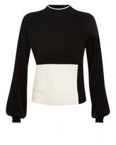 Jaeger Wool Colour Block Sweater