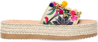 Mabu By Maria Bk 45mm Jungle Embroidered Sandals