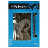 Lady Jayne Fringe Pins, 6. 25cm, Brown 25 pack