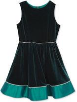 Rare Editions Velvet & Taffeta Dress, Big Girls (7-16)