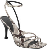 Sigerson Morrison Carissa Snake-Print Strappy Sandals