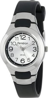 Armitron Sport Unisex 25/6418BLK Analog Easy-to-Read Dial Black Resin Strap Watch