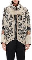 Gary Graham Women's Embroidered Linen Cocoon Jacket
