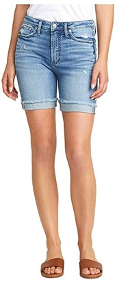 Silver Jeans Co. Sure Thing High-Rise Long Shorts L28505SJL244 (Indigo) Women's Shorts