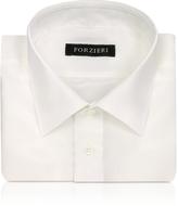 Forzieri Ivory Pure Silk Dress Shirt