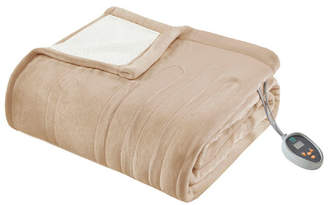 Simmons True North by Sleep Philosophy Ultra Soft Reversible Berber/Plush Electric Queen Blanket with Bonus Automatic Timer Bedding