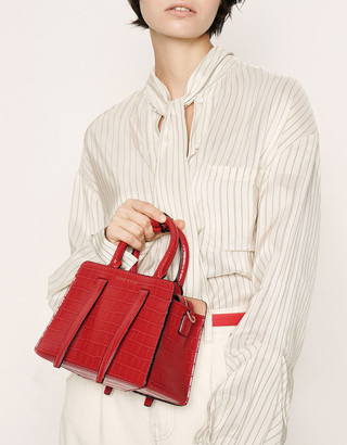 Charles & Keith Croc-Effect Top Handle Bag