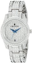 Croton Women's CN207543RHPV Balliamo Analog Display Quartz Silver Watch