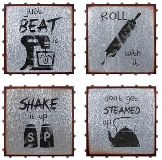 Imax Galvanized Iron Wall Art With Gray Finish A0410450