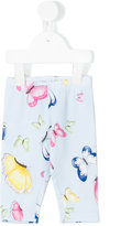 MonnaLisa butterfly print leggings - kids - Cotton/Elastodiene - 6 mth