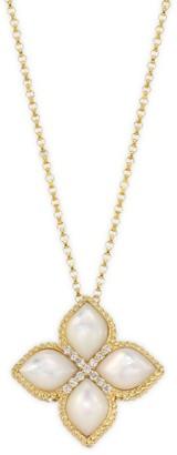 Roberto Coin Venetian Princess 18K Yellow Gold, Diamonds & Mother-of-Pearl Pendant Necklace