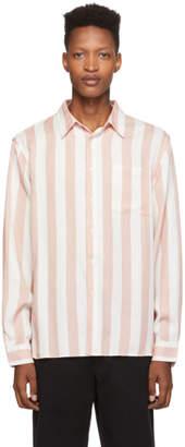 Saturdays NYC Pink and White Jumbo Stripe Perry Shirt